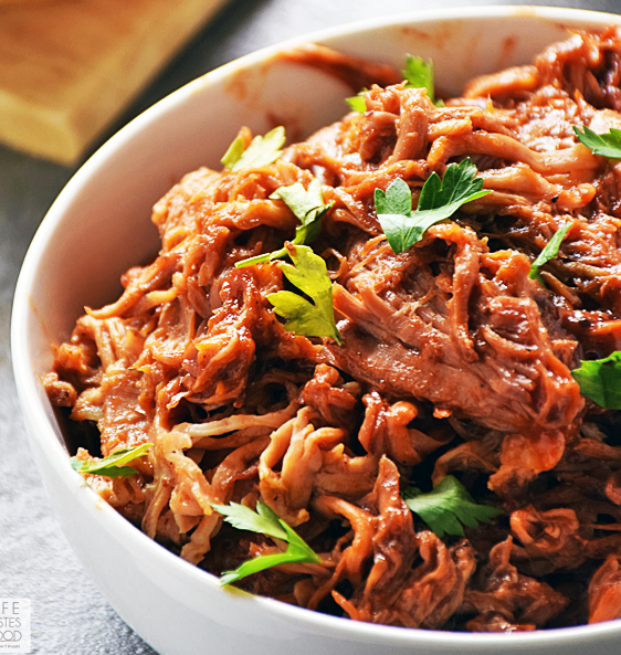 Slow Cooker BBQ Pulled Pork | Life Tastes Good