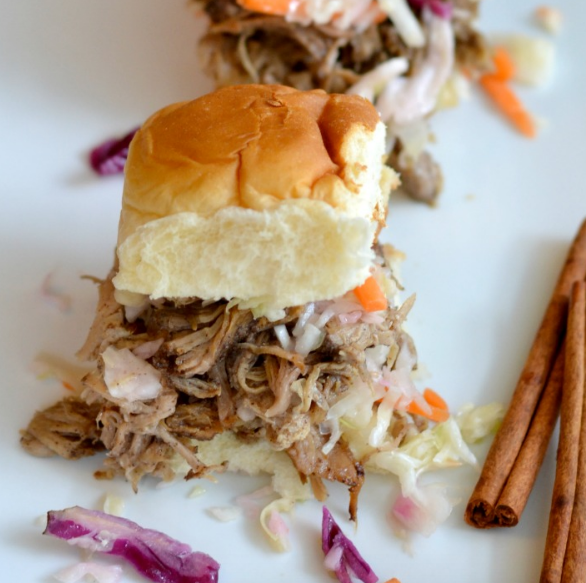 Cinnamon Chipotle Pulled Pork Sliders | Good + Simple