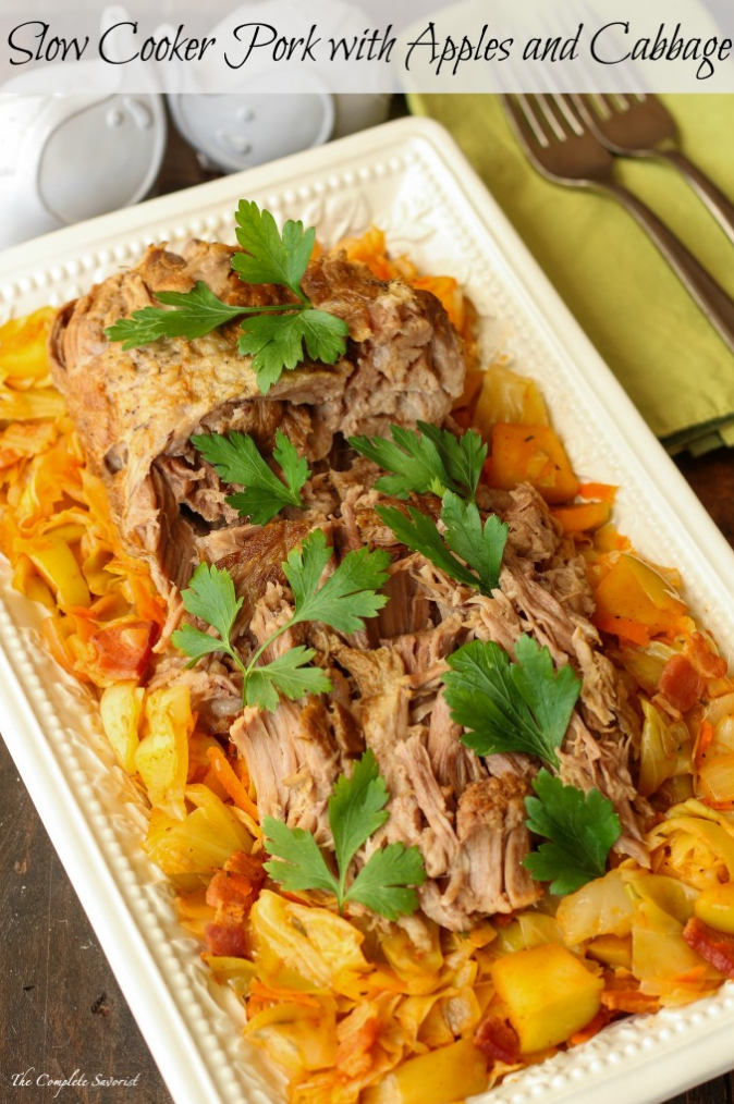 Slow Cooker Pork with Apples and Cabbage – The Complete Savorist
