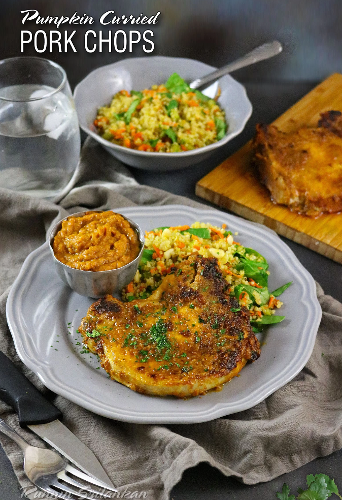 Pumpkin Curried Pork Chops – Runnin Srilankan