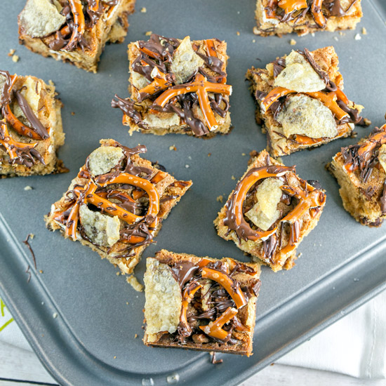 Potato Chip Pretzel Cookie Bars | Bunsen Burner Bakery