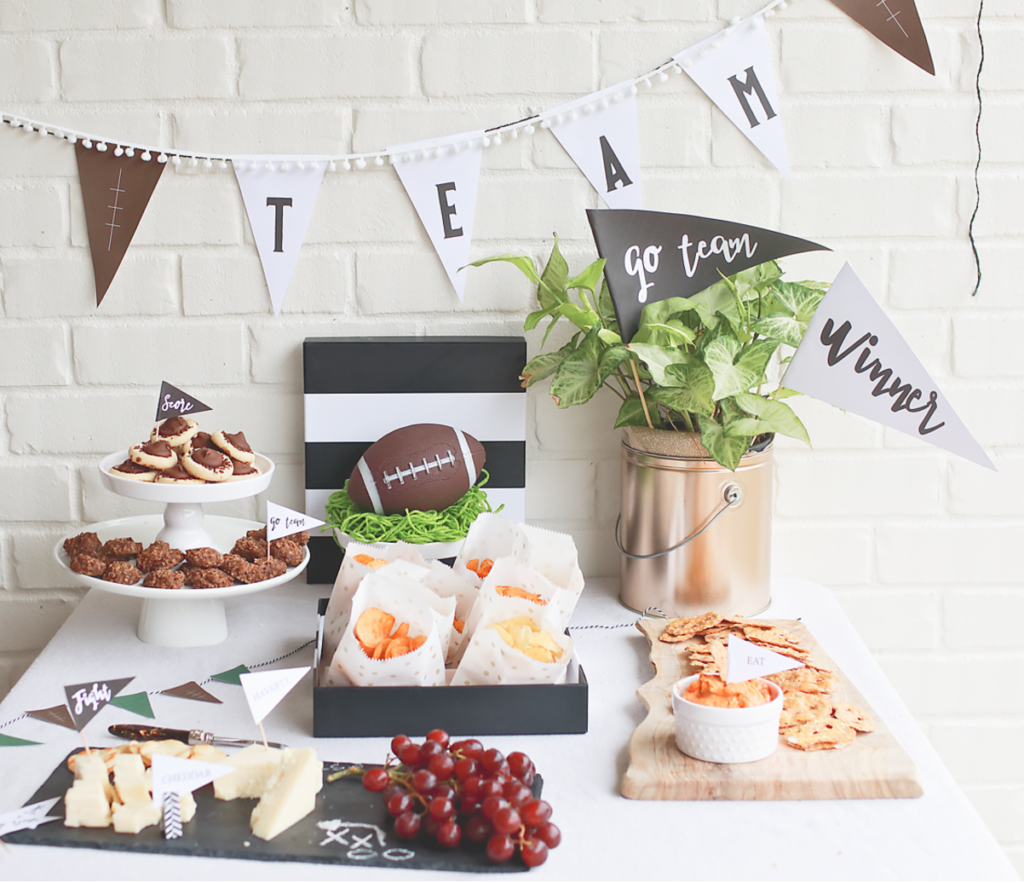Easy and Simple Football Party | Free Printable Decor – Behind the Camera and Dreaming