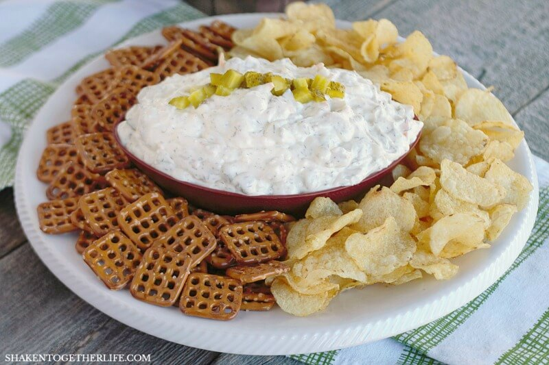 Creamy Cheesy Dill Pickle Dip