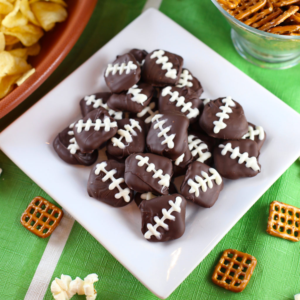 Game Day Pretzel Footballs & Party Snacks