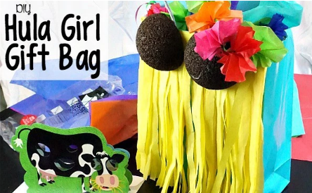 DIY Hula Girl Gift Bag – Nerdy Mamma