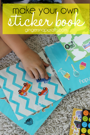 Ginger Snap Crafts: Make Your Own Sticker Book {tutorial}