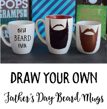 Draw Your Own Father's Day Beard Mugs