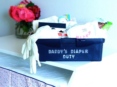 DIY Daddy's Diaper Duty Toolbox- The Perfect Father's Day Gift | Beauty and A Budget