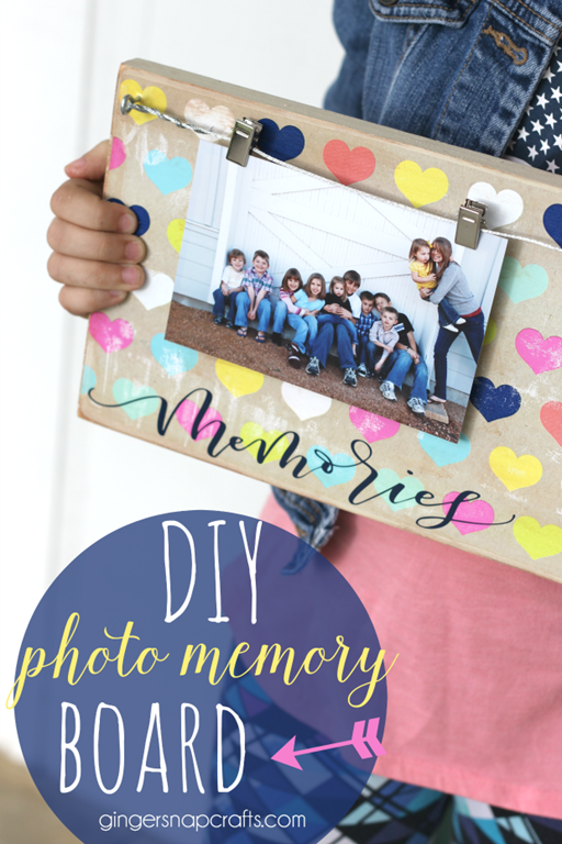 Ginger Snap Crafts: DIY Photo Memory Board