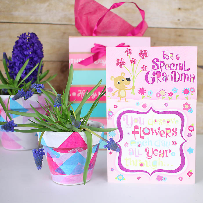 Decoupage Flower Pots DIY- Great Mother's Day Gift!         |         Gina Michele
