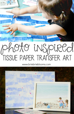 Photo Inspired Tissue Paper Transfer Art