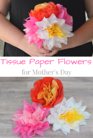 Tissue Paper Flowers for Mother's Day – My Big Fat Happy Life
