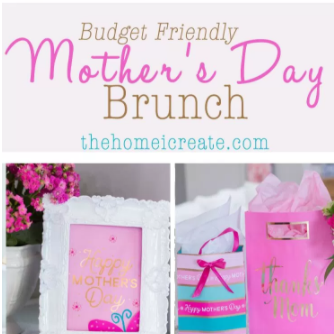 A Beautiful Yet Budget Friendly Mother's Day Brunch