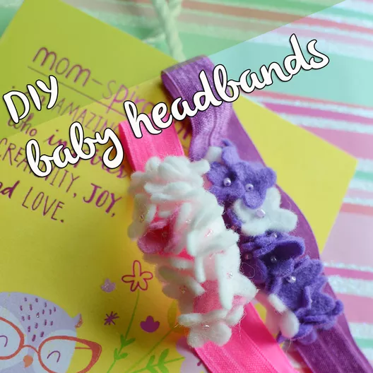 baby headband DIY with American Greetings