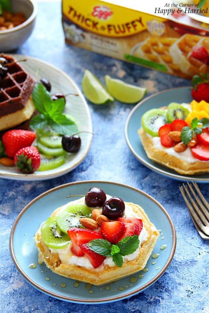 Waffle Fruit Tarts