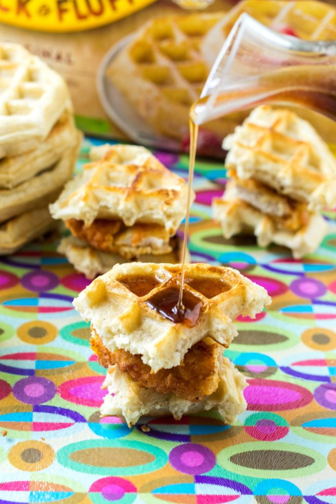 Chicken and Waffle Sliders | A Wicked Whisk
