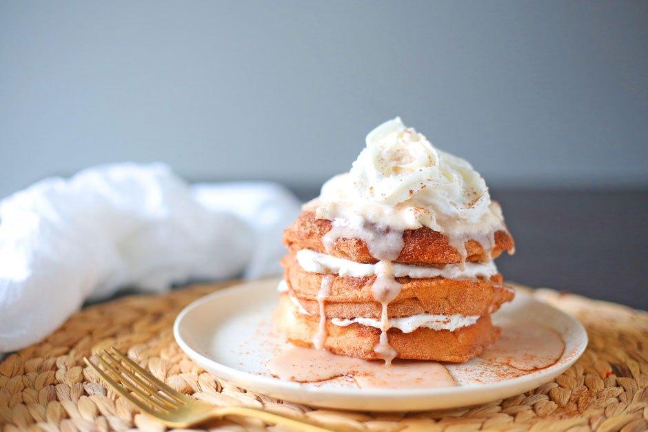 Snickerdoodle Belgian Waffles | Brown Sugar Food Blog