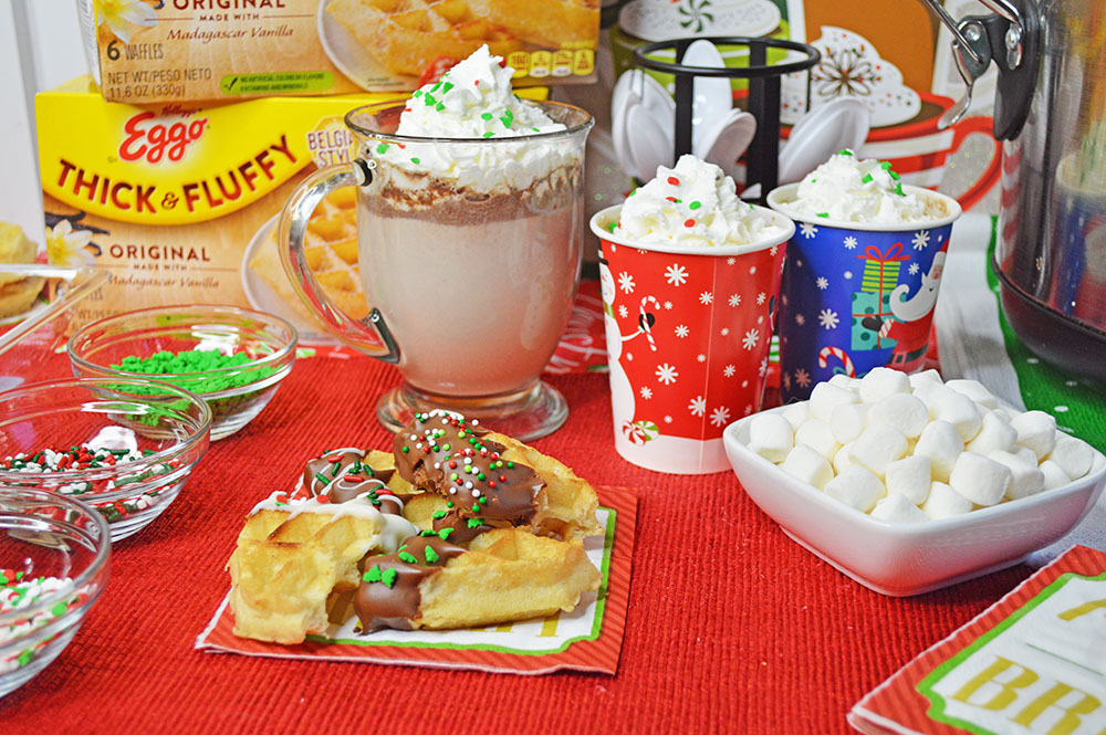 Hot Chocolate and Dipped Waffles Bar