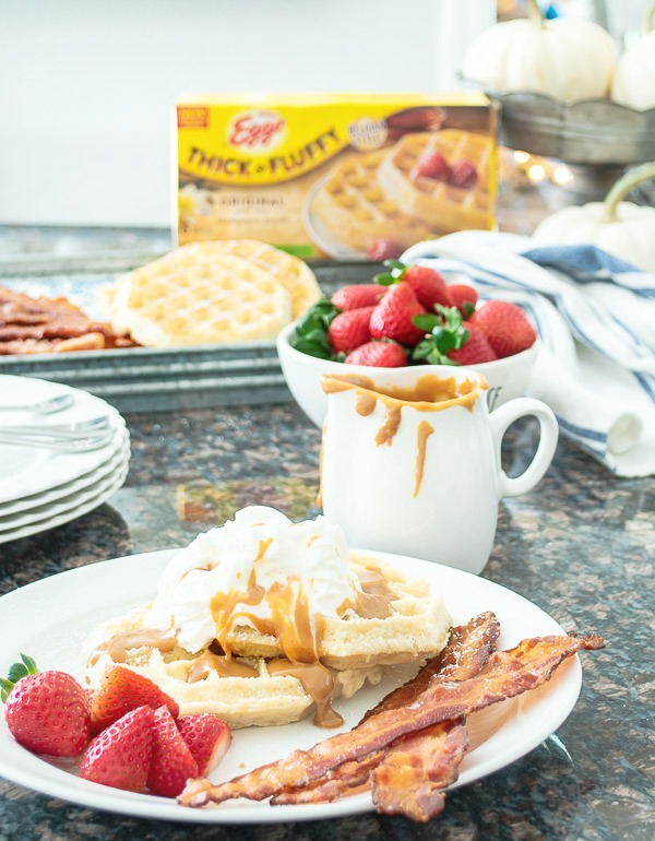 Dulce De Leche Belgian Waffles and Easy No-Mess Crispy Bacon | DIY beautify