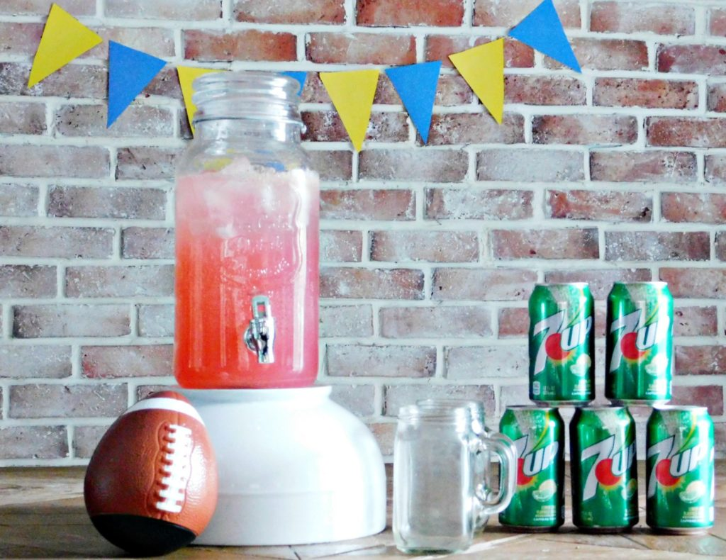 7UP Fruity Football Party Punch Superbowl food drinks