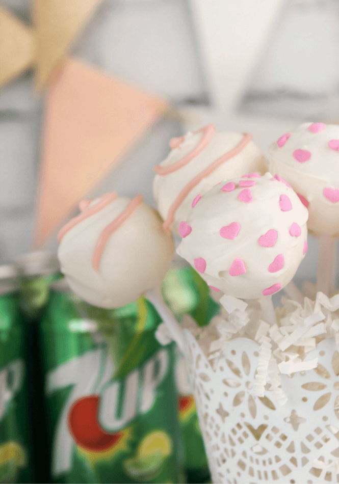 Valentine's Day 7UP Cake Pops