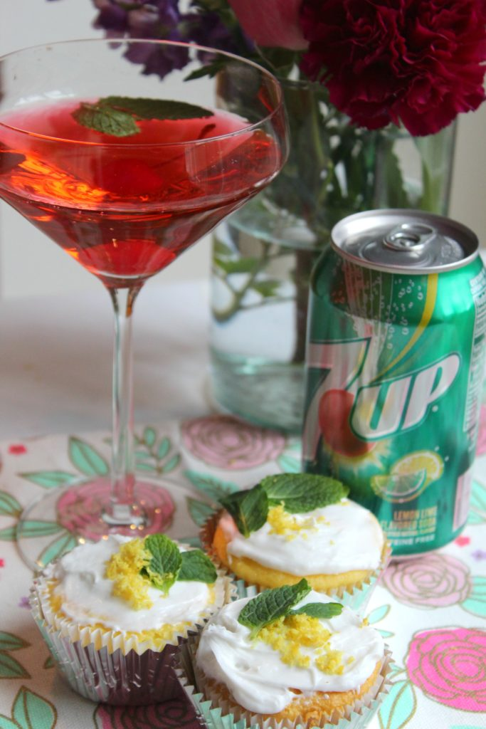 7 Up Cupcakes with Girly 7 Up Cocktail | Budget Savvy Diva