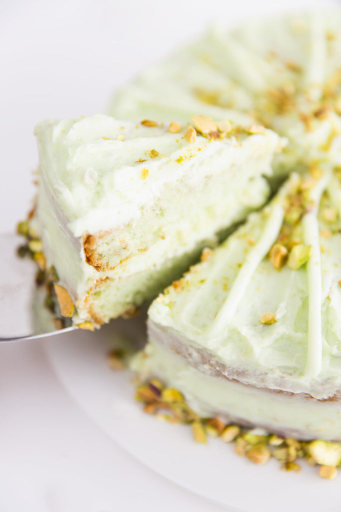 5 Ingredient Super Moist Pistachio 7UP Layer Cake with Pistachio Frosting Recipe — Lily The Wandering Gypsy
